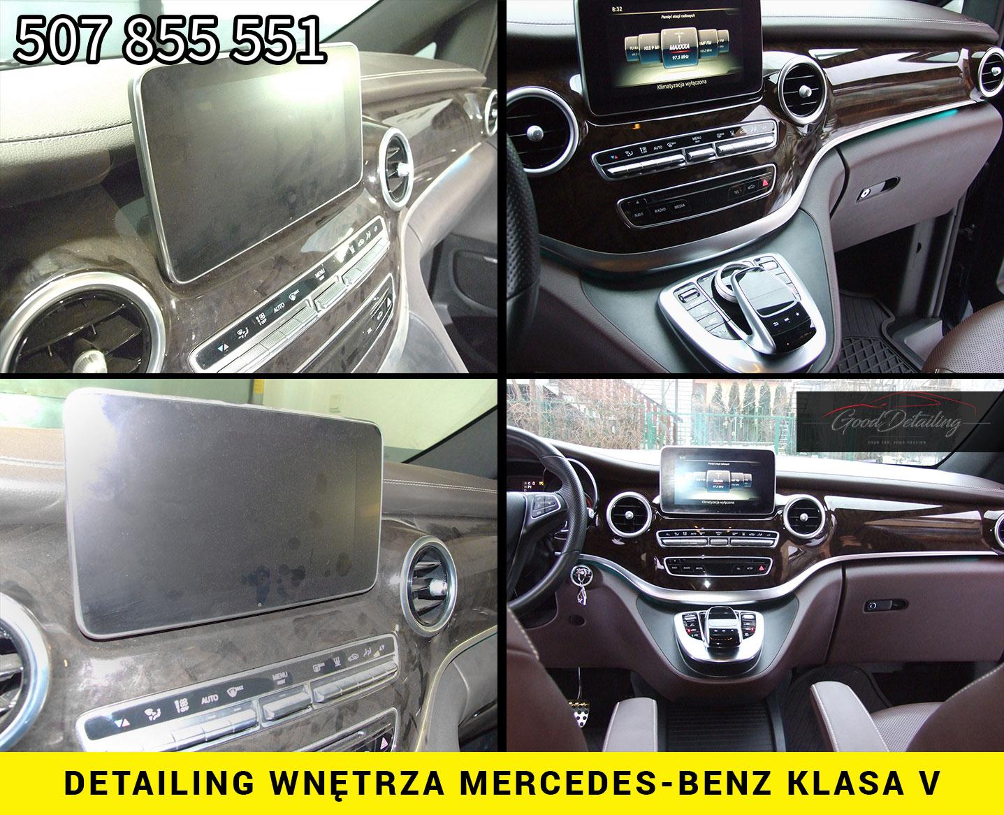 Detailing wnętrza samochodu Mercedes Klasa V